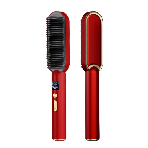 Ionic Straightener Brush PTC Heated Hair Straightener